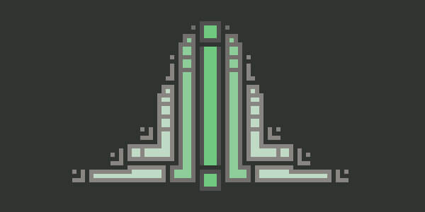 Abstract Structural Pixel Art
