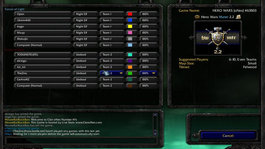 Warcraft 3 Custom Map Waiting Room