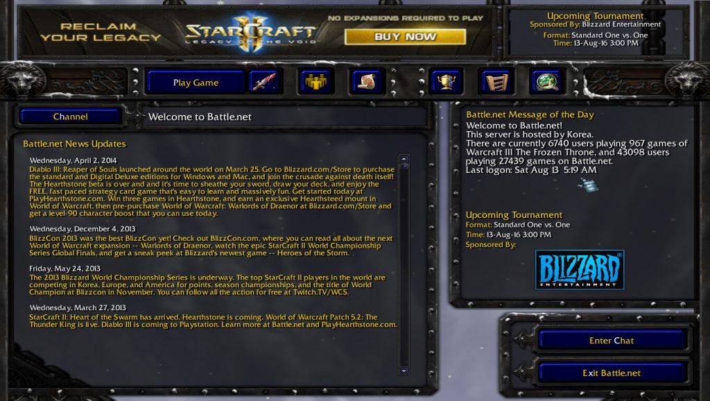 Warcraft 3 Frozen Throne Battle.net Population