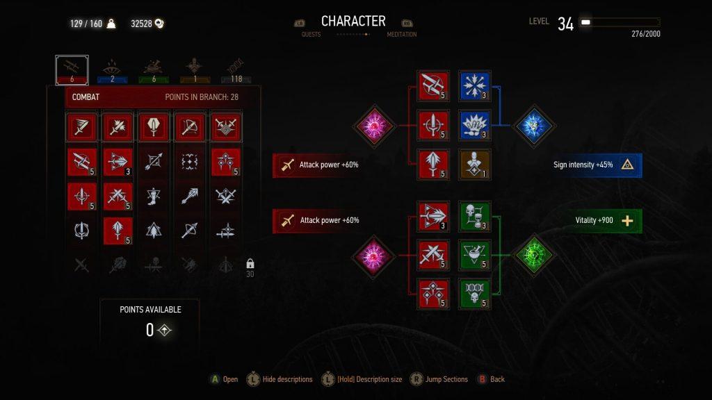 Best Build - Combat Tree Screenshot
