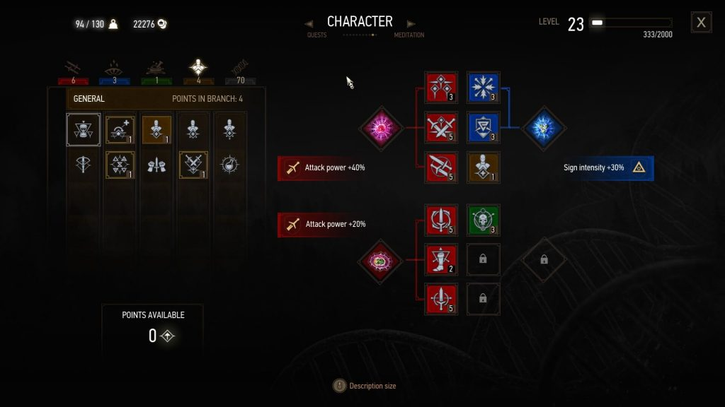 Witcher 3 Best Death March Build Spec General Tree