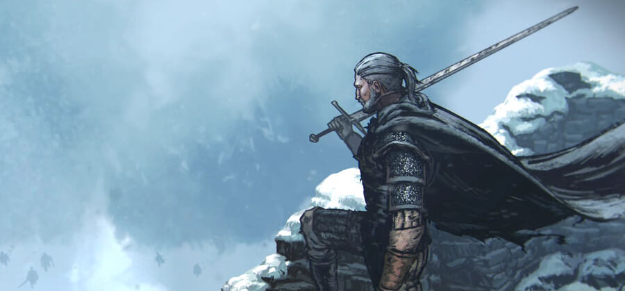 Witcher 3 Geralt Illustrated Banner