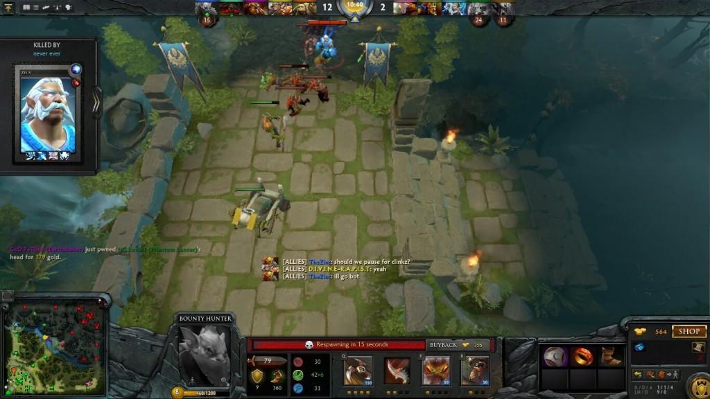 Dota 2 Gameplay Screenshot on the Latitude E7440