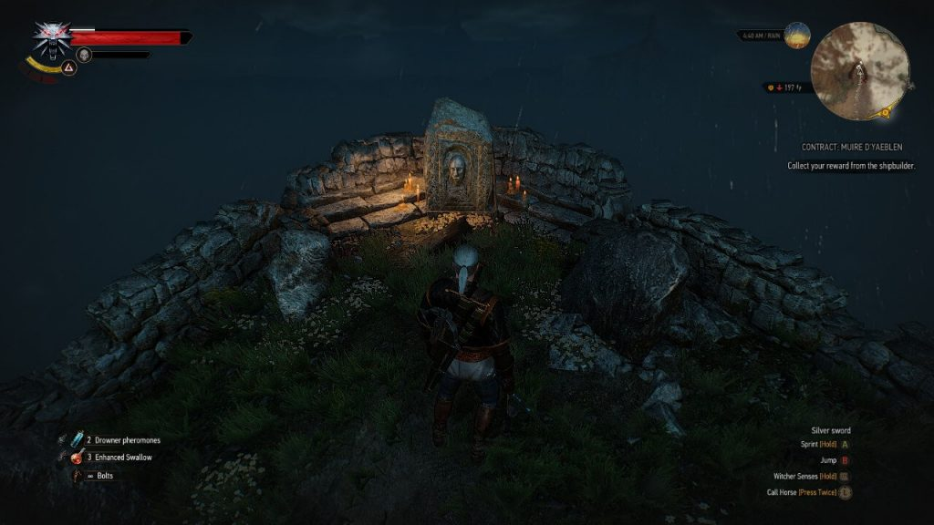 Image of geralt exploration For levels & gear for the witcher 3 leveling guide