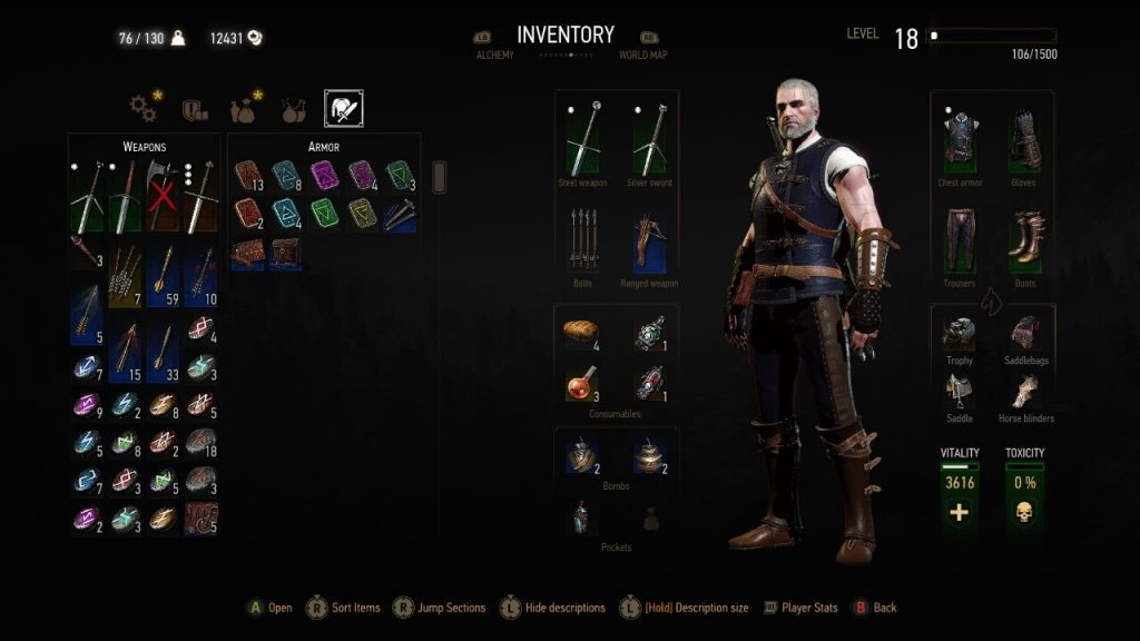 Witcher 3 Light Armor Build - Full Feline Green Set