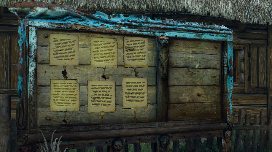 Witcher 3 Notice Board
