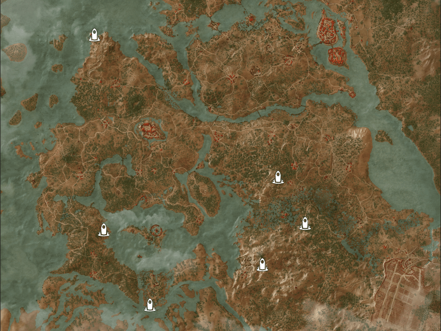 Velen Places of Power Locations Map