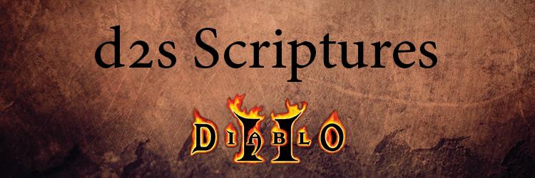 DIablo 2 Scriptures - How to read .d2s Banner