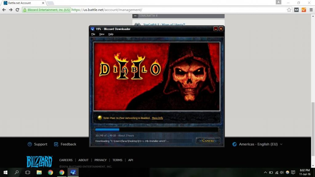 installing Diablo 2 Screenshot