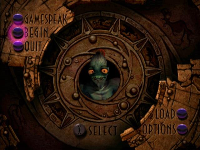 Oddworld Abyss Odyssey Start Screen