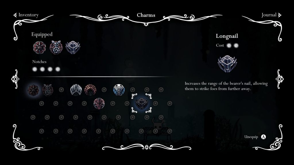HollowKnight - Charms Menu