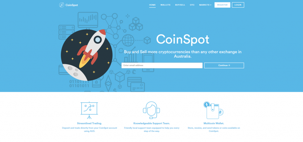 Coinspot Landing Page