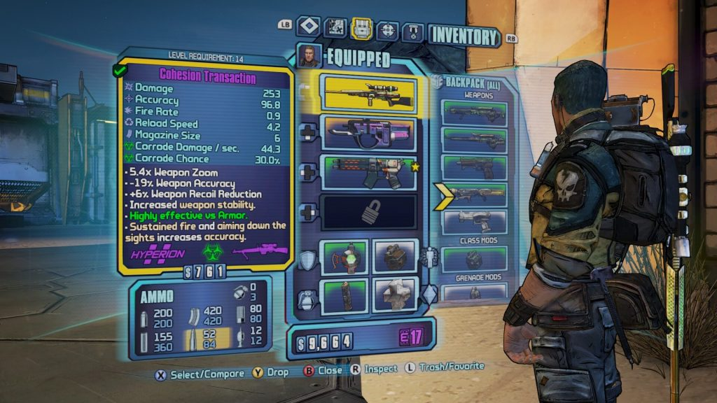 BL2 - Weapons Inventory