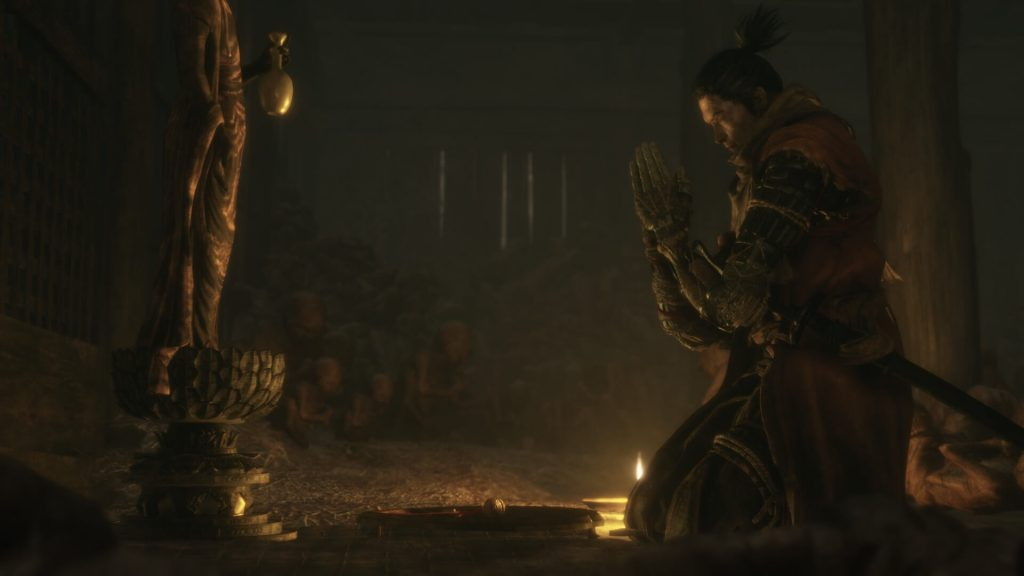 Sekiro Bowing to Buddha Alter